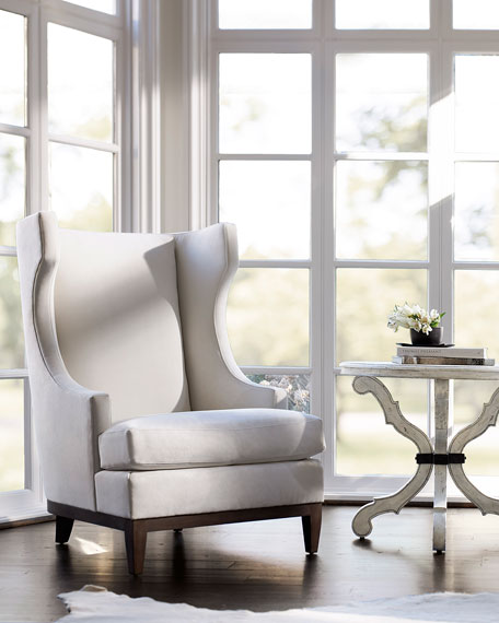 Bernhardt Pascal Leather Wing Chair