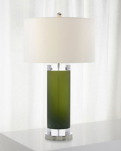 Deep Emerald Green Glass Lamp