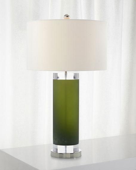Deep Emerald Green Glass Lamp