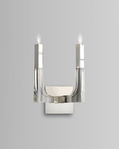 Acrylic & Nickel 2-Light Sconce