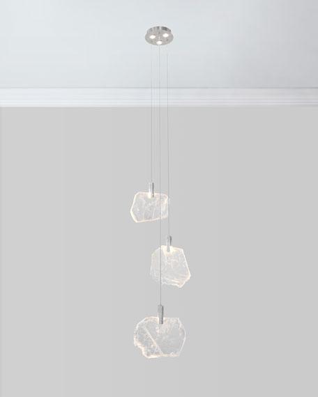 6-Light Selenite Drop Light Pendant