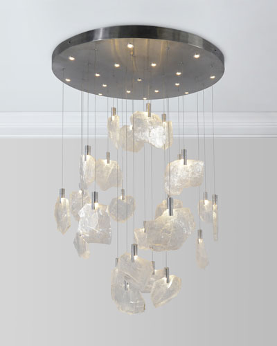 41-Light Horizontal Selenite Chandelier