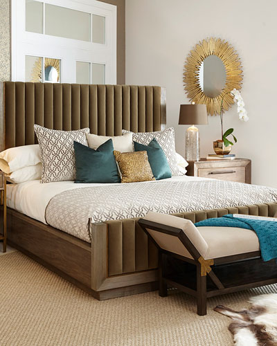Harper Channeled Tufted King Bed