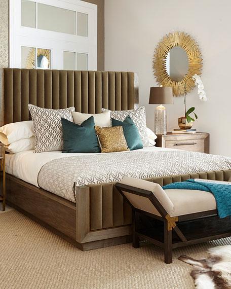 Harper Channeled Tufted King Bed