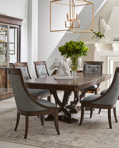 Noah Double Pedestal Dining Table