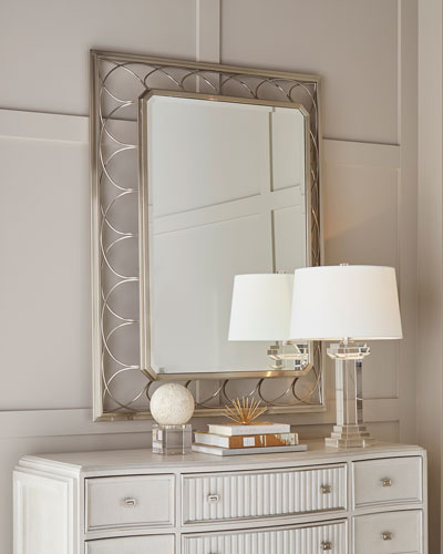Alexandra Braided Metal Frame Mirror
