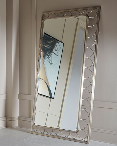 Alexandra Braided Metal Frame Floor Mirror