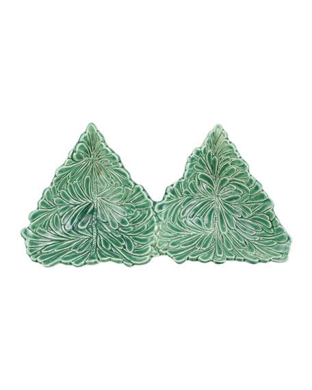 Vietri Lastra Holiday Figural Tree 2-Part Server