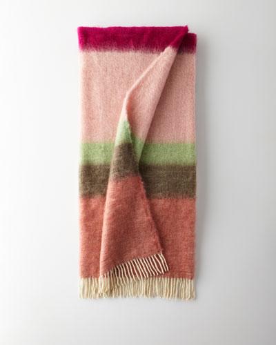 Matisse Mohair Throw  Pink Pattern