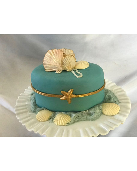 Elegant Cheesecakes Summer Seashell Cheese Cake