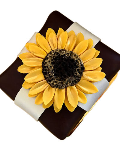 Stunning Sunflower Cheesecake