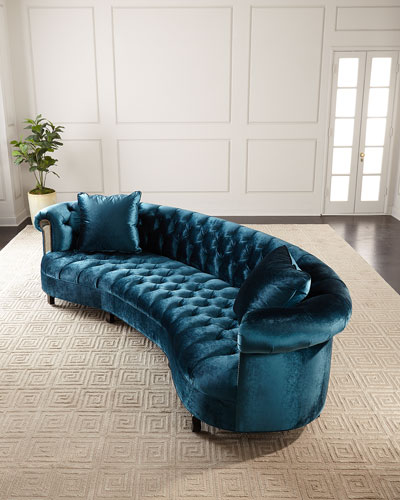 Rebecca Glam Mirrored Sofa  122