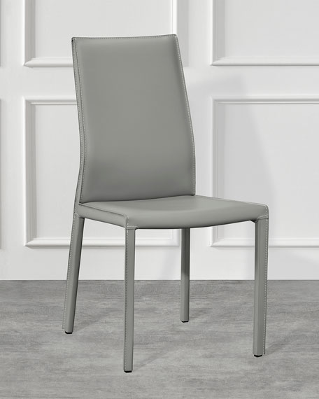 Pair of Vera Dining Chairs, Gray