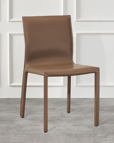 Pair of Bianca Dining Chairs  Cappuccino