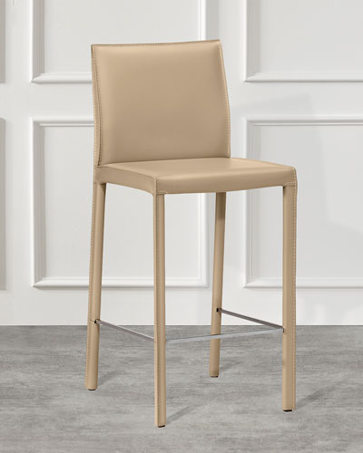 Pair of Vera Counter Stools  Cafe Latte