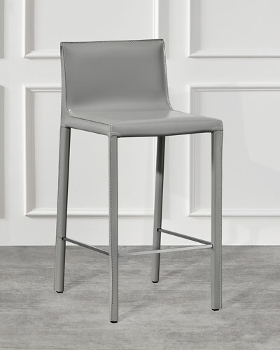 Pair of Bianca Counter Stools  Gray