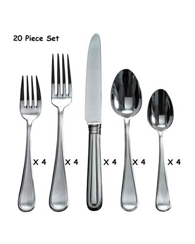 20-Piece Ascot Flatware Set
