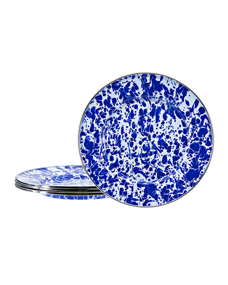Golden Rabbit Cobalt Swirl Sandwich Plates, Set of