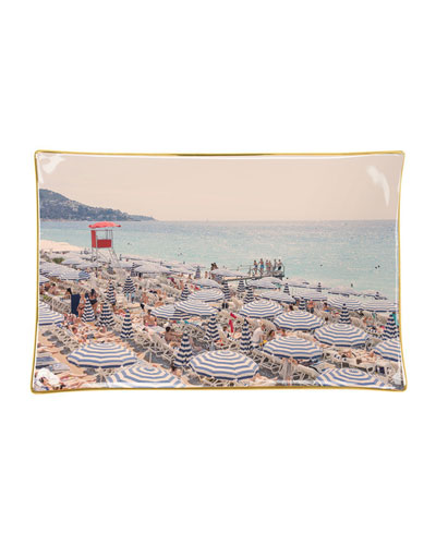 French Riviera Porcelain Tray