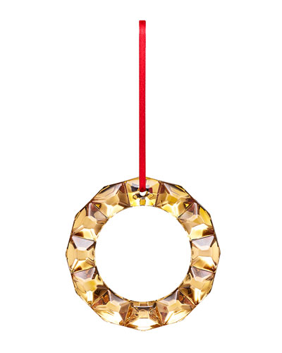 20k Gold Wreath Ornament