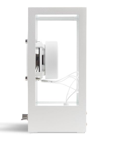 Small Transparent Speaker, White