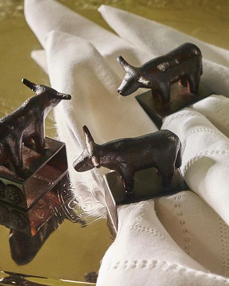 Jan Barboglio Angus Napkin Rings, Set of 4