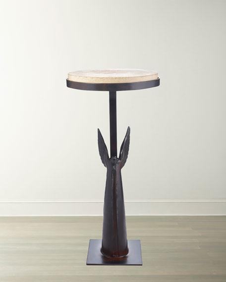 Angel de Paz Stone-Top Side Table