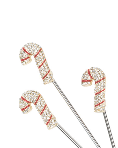 Candy Cane Cocktail Picks, Set of 6