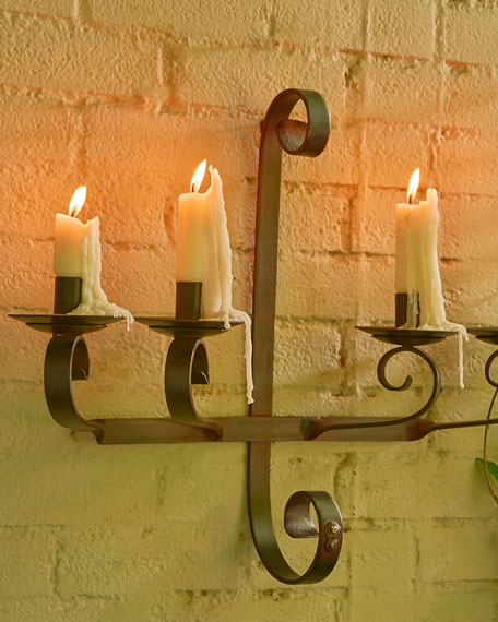 Jan Barboglio Cuatro Brazos Lighting D'Pared Candle Sconce