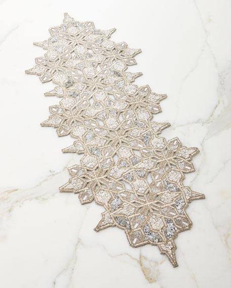 Kim Seybert Christmas Snowflake Table Runner