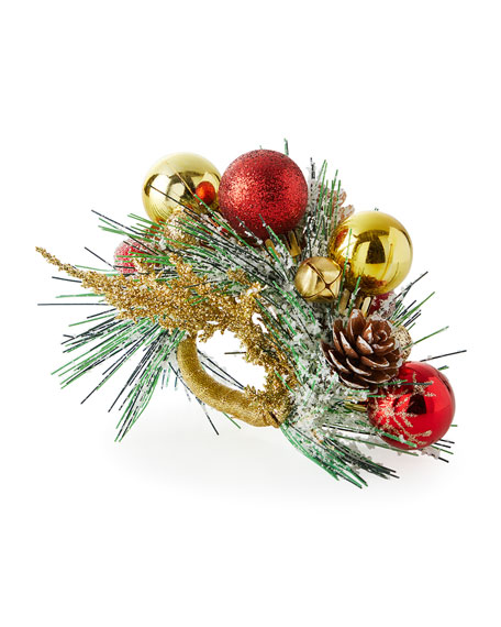 Kim Seybert Holiday Bough Napkin Ring