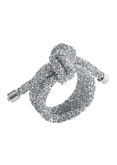 Glam Knot Napkin Ring  Silver