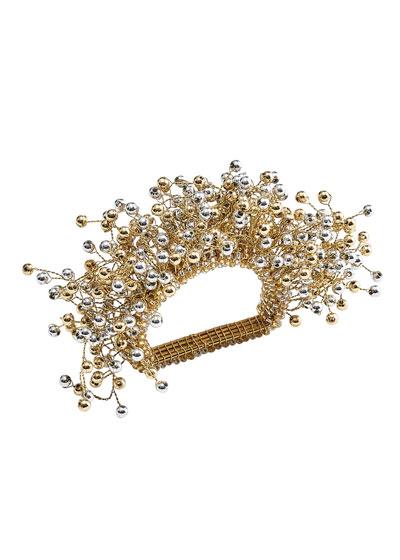 Spray Napkin Ring  Gold