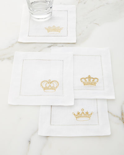Royalty Cocktail Napkins  Set of 4