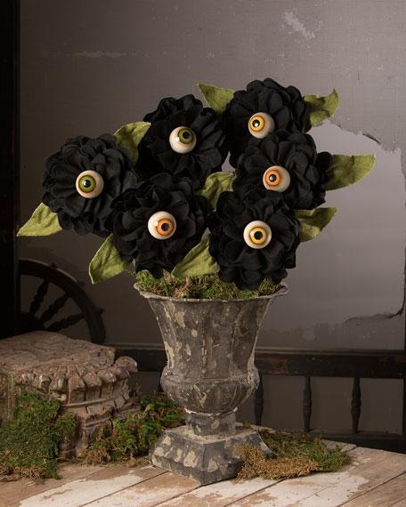 Bethany Lowe Halloween Eyeball Roses, Set of 3