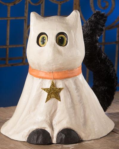 Ghostie Cat Large Paper Mache
