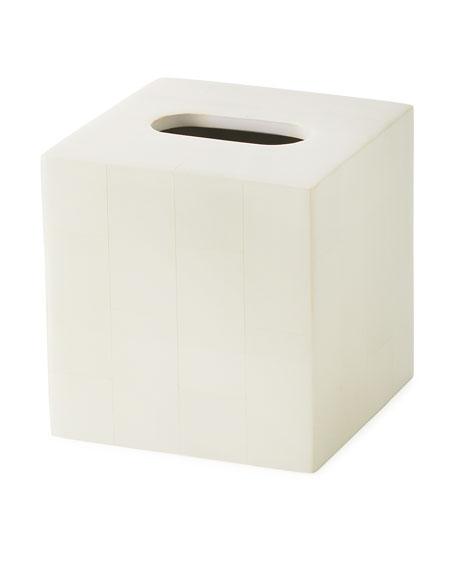 Arles Faux Horn Tissue Box Cover