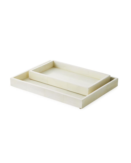 Pigeon and Poodle Arles Nested Faux Horn Trays,