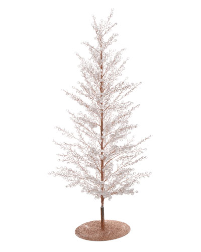 24 Clear/Gold Diamond Sparkle Tree