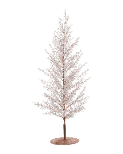 20 Clear/Gold Diamond Sparkle Tree