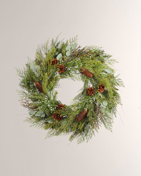 "Cedar Pine Mix Wreath - 30"""