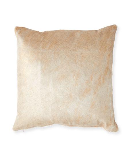 """Hair Hide Pillow, 19""""Sq."""