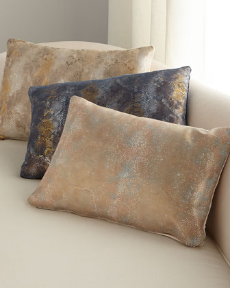 Oil Printed Suede Pillow