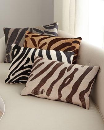 Hair Hide Zebra Pillow  23 x 15