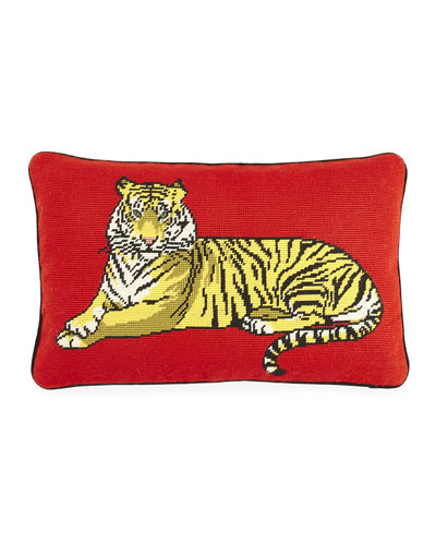 Safari Needlepoint Pillow