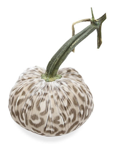 8 Velvet Pumpkin with Natural Stem