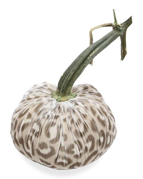 "8"" Velvet Pumpkin with Natural Stem"
