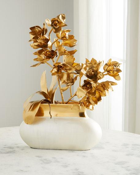 John-Richard Collection Gold & Pearl Floral Arrangement
