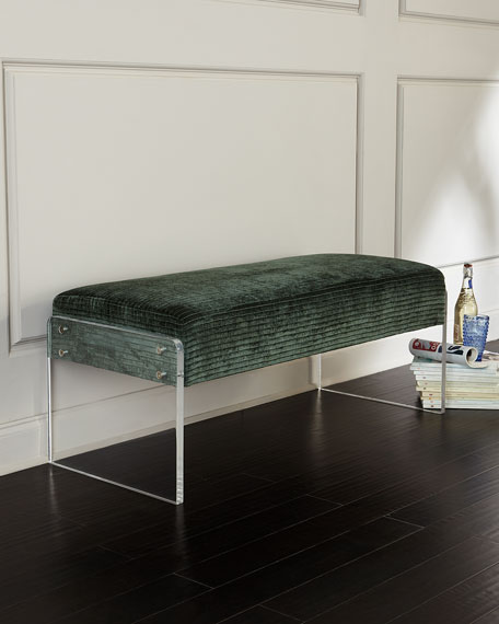 Bernhardt Frey Bench, Blue