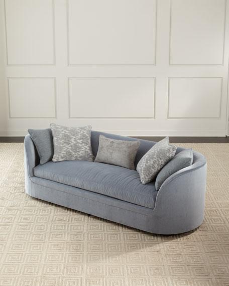 "Amara Curved Sofa, 98"""